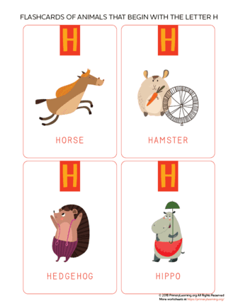 animals that begin with the letter h