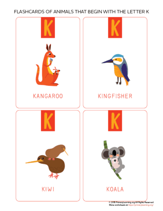 animals that begin with the letter k