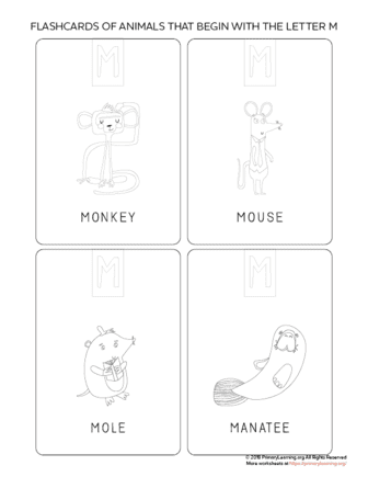 animals that begin with the letter m