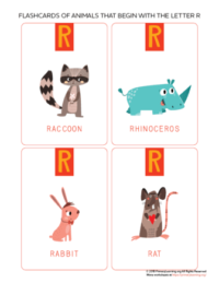 animals that begin with the letter r