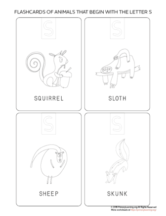 animals that begin with the letter s