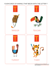 animals that begin with the letter t