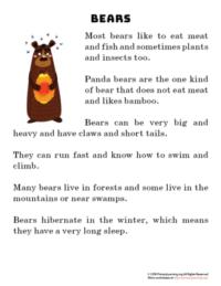 bear reading passage