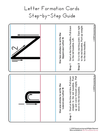 how to write the letter n