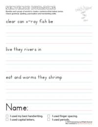sentence building x-ray fish