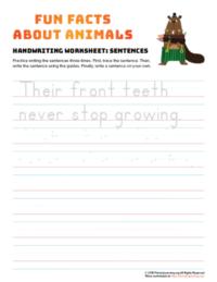 sentence writing beaver