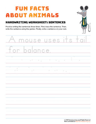 sentence writing mouse