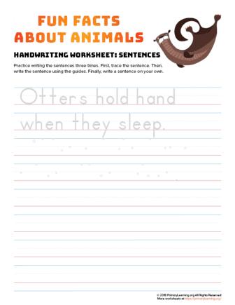 sentence writing otter