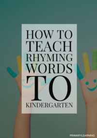 how to teach rhyming words to kindergarten