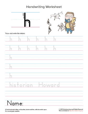 lowercase letter h