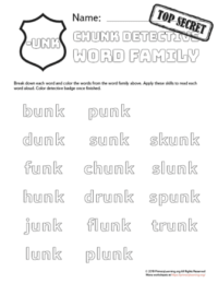 Free Word Families Worksheets & Printables | PrimaryLearning org