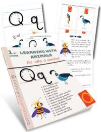 letter q handwriting practice
