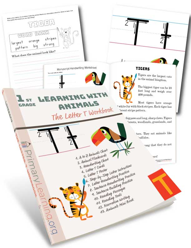 letter t handwriting practice
