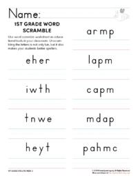 1st grade spelling games unit 3