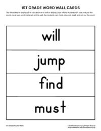1st grade spelling words unit 7