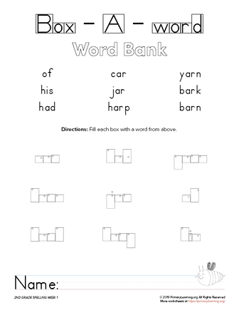2nd Grade Box-a-Word Spelling (Unit 1) | PrimaryLearning.org