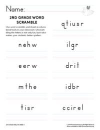 2nd grade spelling games unit 4