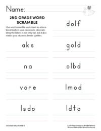 2nd grade spelling games unit 5