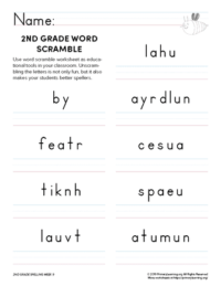 2nd grade spelling games unit 9