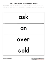 2nd grade spelling words unit 5