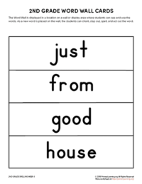 2nd grade spelling words unit 6