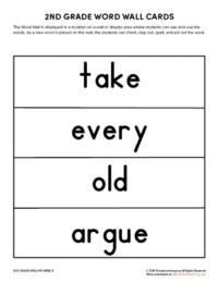 2nd grade spelling words unit 8