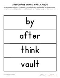 2nd grade spelling words unit 9