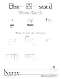 kindergarten spelling unit 4