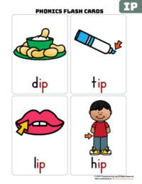 ip word family flash cards