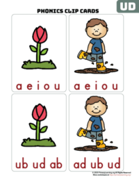 ud word family clip cards