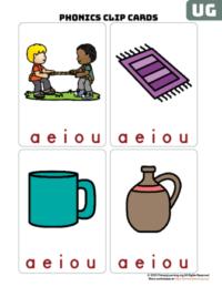 ug word family clip cards