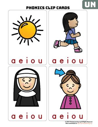 un word family clip cards