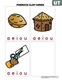 ut word family clip cards