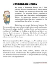 historian reading passage