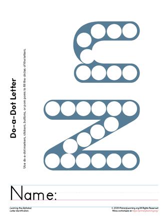 do a dot letter n