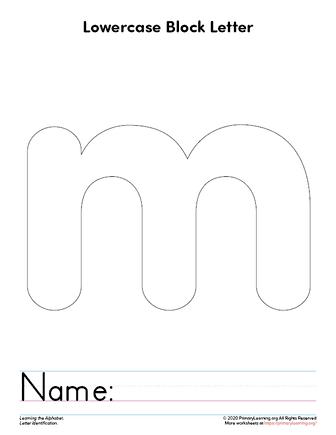 letter m printable