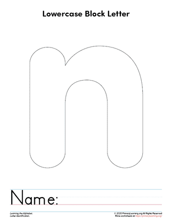 letter n printable