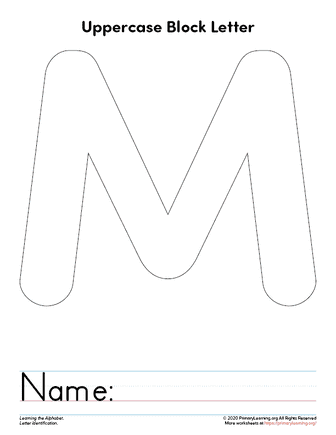 letter m template