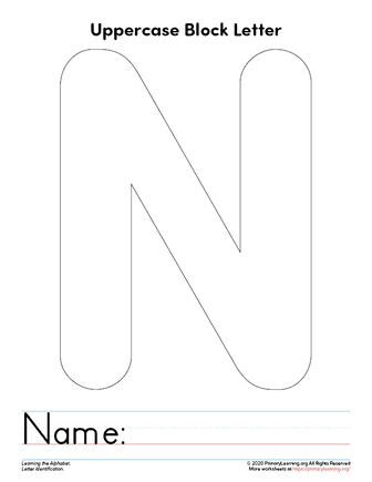 letter n template
