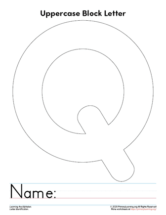 letter q template