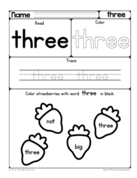sight word three