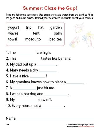 summer vocabulary in english