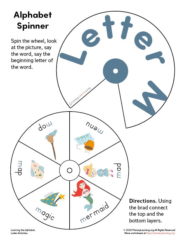 letter m wheel spinner
