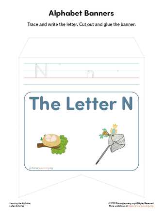 letter n banners