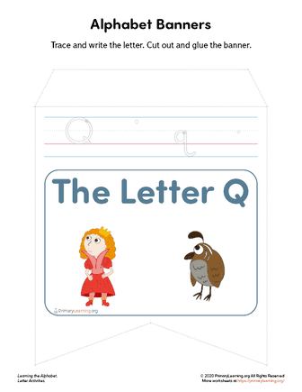 letter q banners