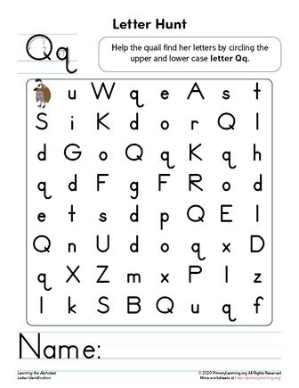letter q recognition