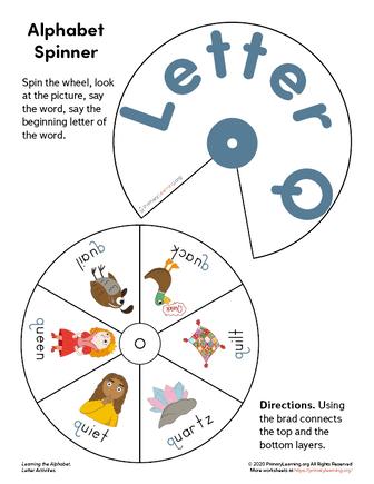 letter q wheel spinner