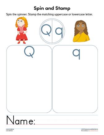 reading letter q
