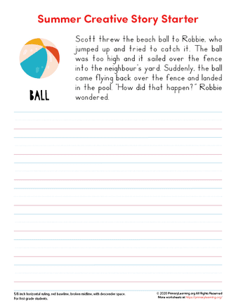 summer writing prompts for 2nd grade