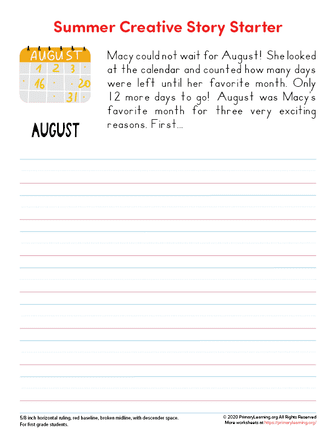 summer writing prompts for second grade